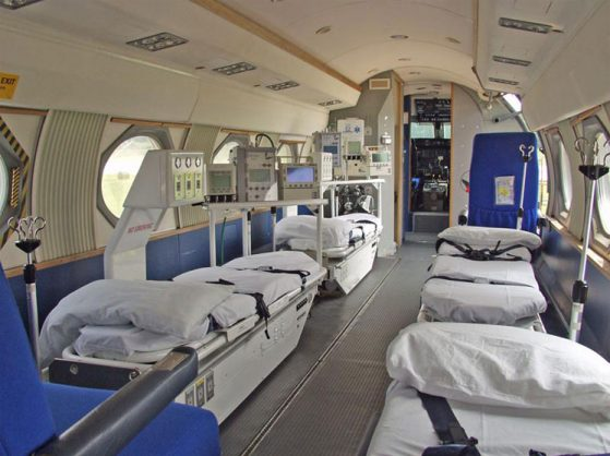 Inside of Air Ambulance
